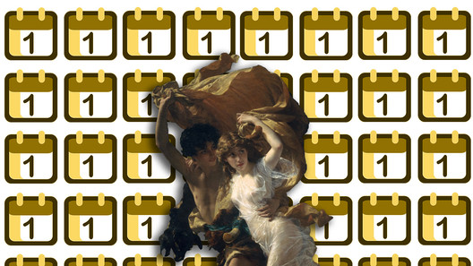 """Collage: """"The Storm"""" by Pierre-Auguste (87.15.134). The Metropolitan Museum of Art, 2000-. [1] (January, 2007), under public domain + Emoji One [Wikipedia], under license CC BY-SA 4.0. Image © Nicolás Valencia"""