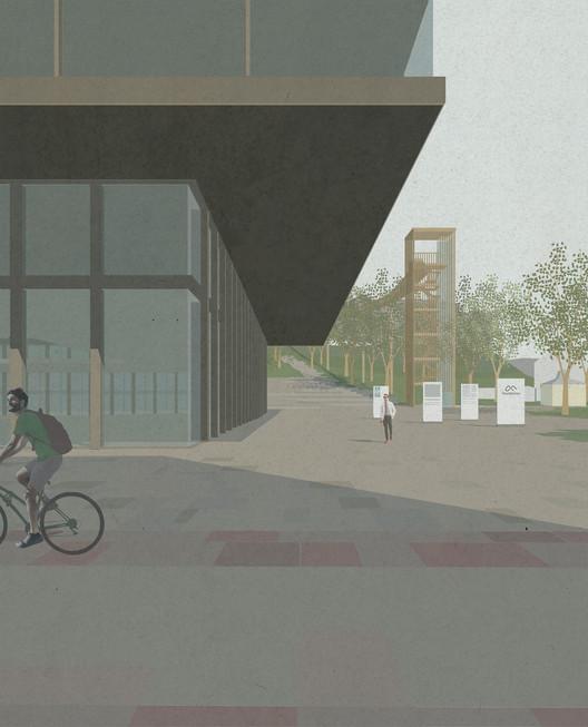Technology and University Centre, Innovation Square. Image Courtesy of KOHT Arkitekter