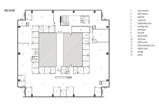 19th Floor Plan