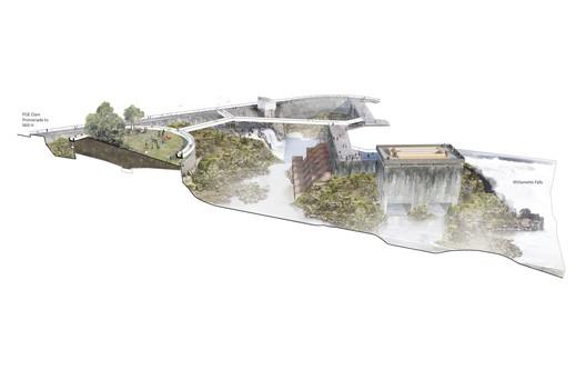 PGE Dam, The Clarifier, and The Falls Overlook . Image © Snøhetta