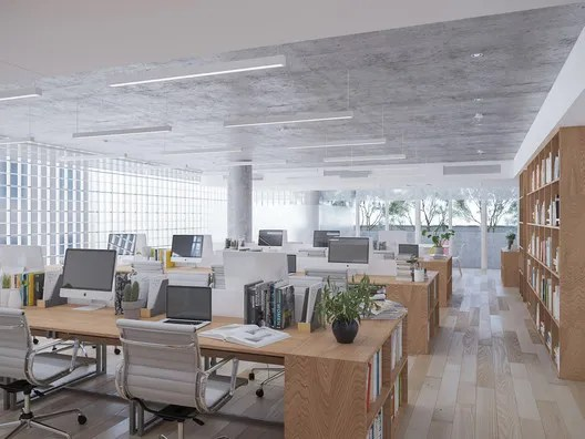 Interior Office. Image Courtesy of VTN Architects