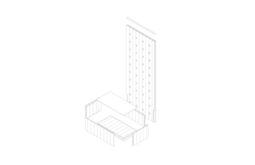 Wall module axonometric