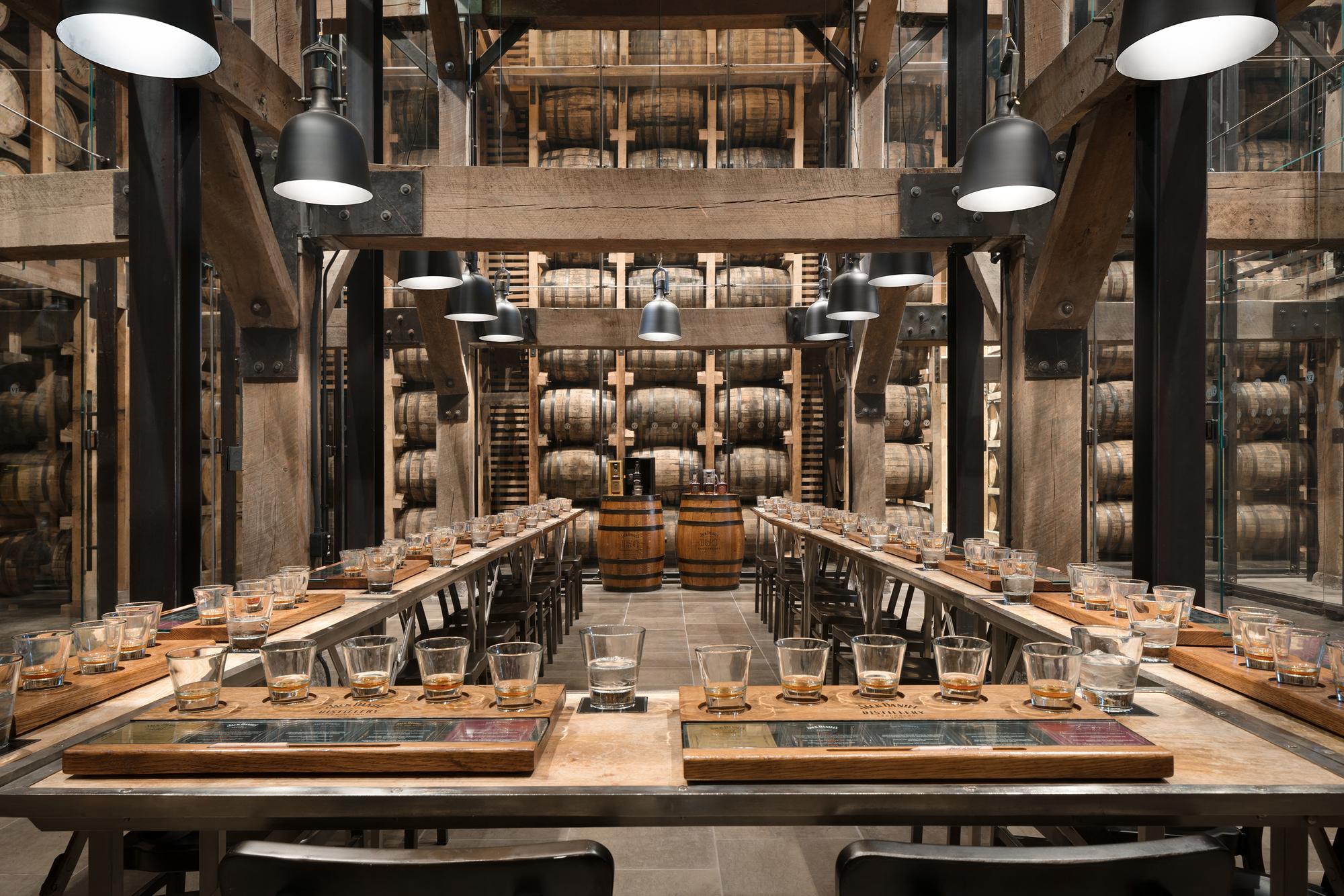 Tasting room in Jack Daniels renovated Distillery Barrel