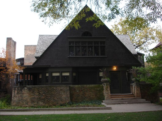 © Wikimedia User John Delano of Hammond, Indiana. Image Casa de Frank Lloyd Wright en Oak Park