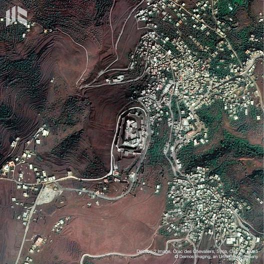 Crac des Chevaliers, Siria. Image © Deimos Imaging