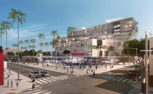 OMA's mixed-use scheme for Santa Monica. Image © OMA
