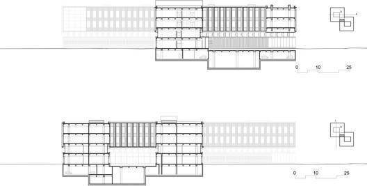 Sections, R&D Building. © gmp Architekten