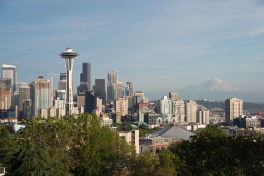 Space Needle in the Seattle Skyline (after). Image © Olson Kundig