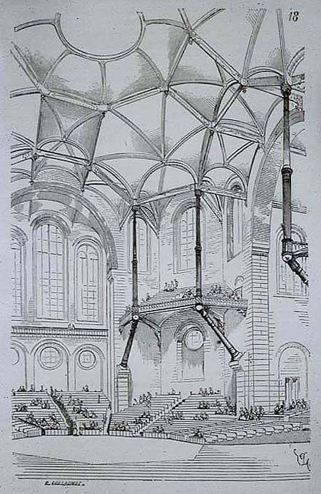 "Viollet Le Duc, a 19th-century architect well-known for his innovations in architectural structures, believed that ""the interests of [both the architecture and structural engineering] professions will be best saved by their union"". Image <a href='https://commons.wikimedia.org/wiki/File:Viollet-le-DucConcertHallEntretiens.jpg'>via Wikimedia</a> (public domain)"