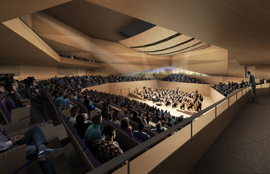 View of main concert hall. Image Courtesy of Diller Scofidio + Renfro
