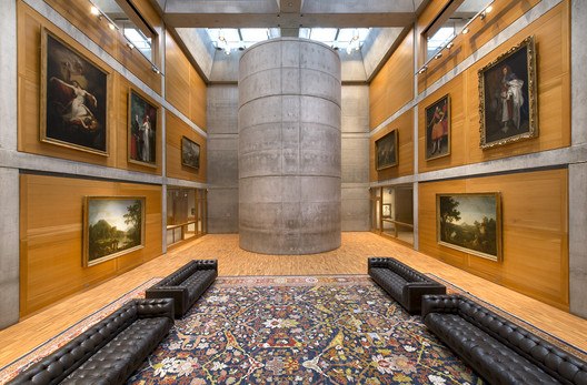 Yale British Center for Art: Library Court after building conservation. Image © Richard Caspole, Yale Center for British Art