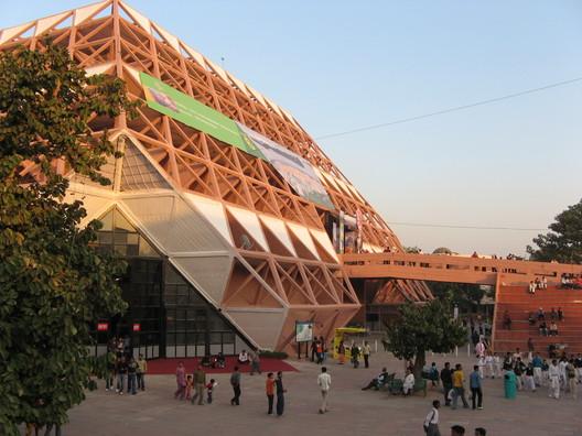 Image by <a href='https://commons.wikimedia.org/wiki/File:Pragathi_maidan_Delhi1.jpg'>Wikimedia user Rameshng</a> in public domain