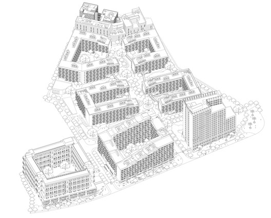 Site Overall Axonometric Drawing