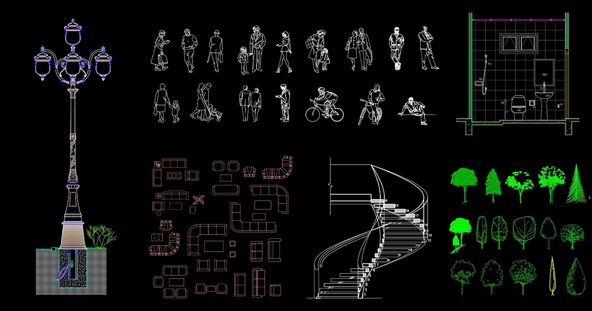 medium resolution of linecad offers solid collection of free architecture cad blocks no strings attached