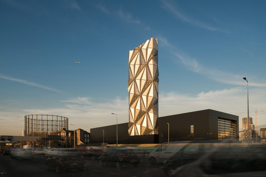 Production, Energy & Recycling: C.F. Møller Architects / Greenwich Peninsula Low Carbon Energy Centre. Image Courtesy of WAF
