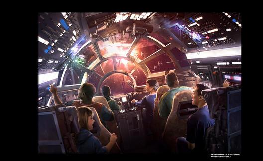 © Disney/Lucasfilm. Image via <a href='http://https://disneyparks.disney.go.com/blog/2017/07/plans-unveiled-for-star-wars-inspired-themed-resort-at-walt-disney-world/'>Disney Parks Blog</a>. ImageAn early concept drawing for the theme park