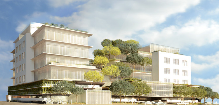 Renderings Revealed of Gehry Partners' Future Tree-Covered Playa Vista Office , via LA Department of City Planning
