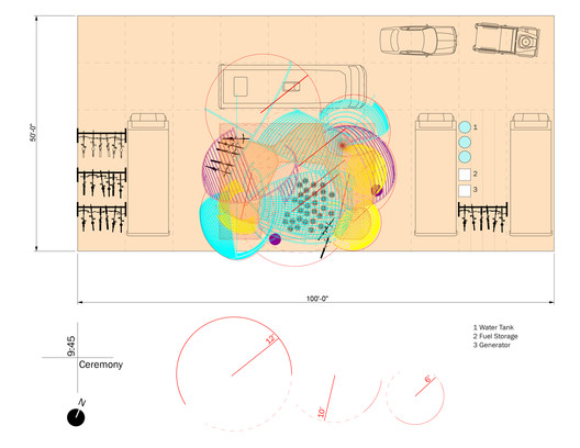 Plan: 2017 Burning Man Festival installation. Image © GSAPP Conversations