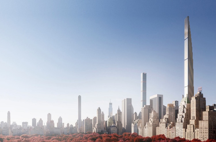 """With Costs Soaring, SHoP-Designed """"World's Skinniest Skyscraper"""" Faces Foreclosure , Renderings from 111 West 57th's teaser site. Image via 111w57"""