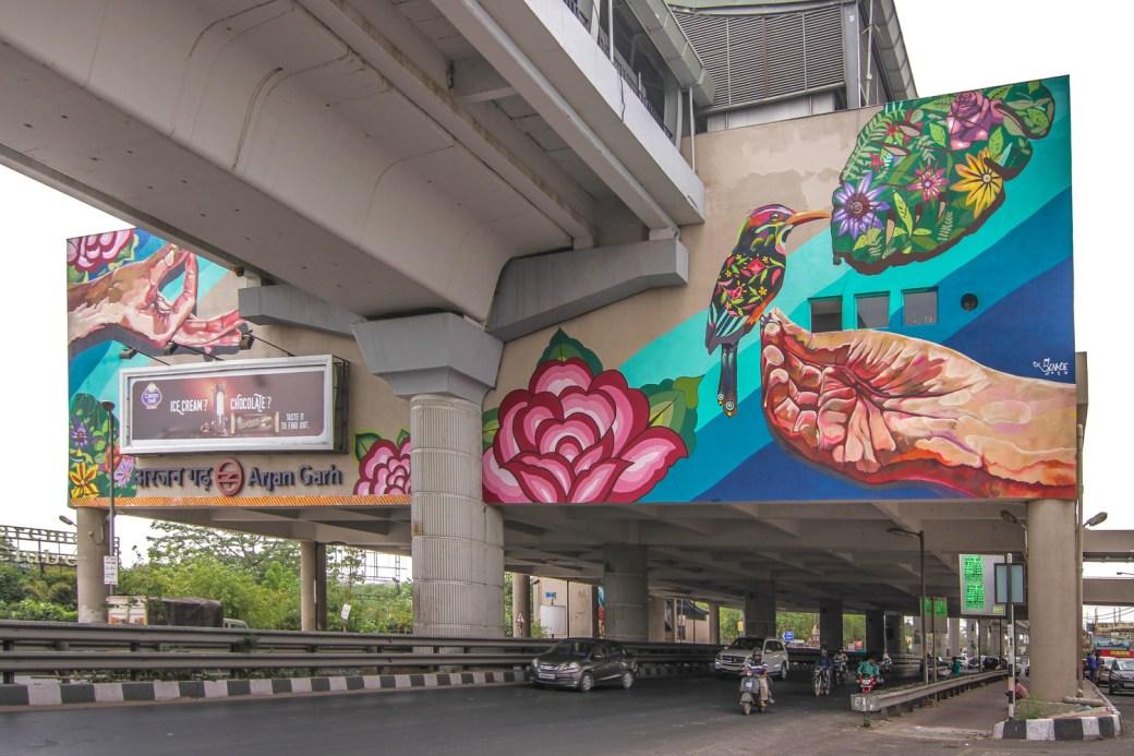 Image result for arjangarh metro street art