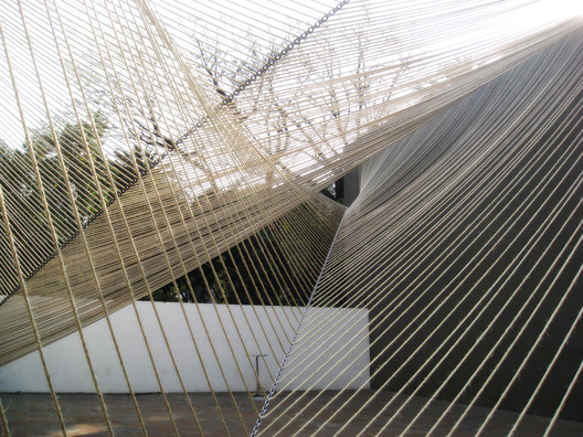 "Estudio MMX, Eco Pavilion, 2011, Mexico City. Courtesy of Buró-Buró/Museo Experimental el Eco. From the 2017 organizational grant to Buró-Buró for ""Libretas Pabellón Eco/Eco Pavilion"". Image courtesy of The Graham Foundation"