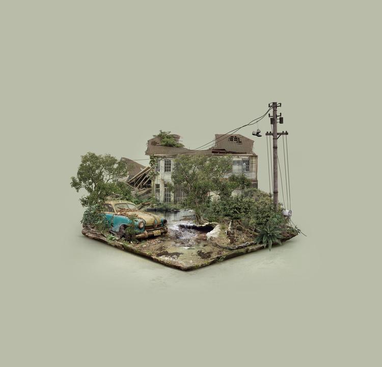 Explore These Digitally-Created Abandoned Islands by Brazilian Designer Fabio Araujo, Abandoned House. Image © Fabio Araujo