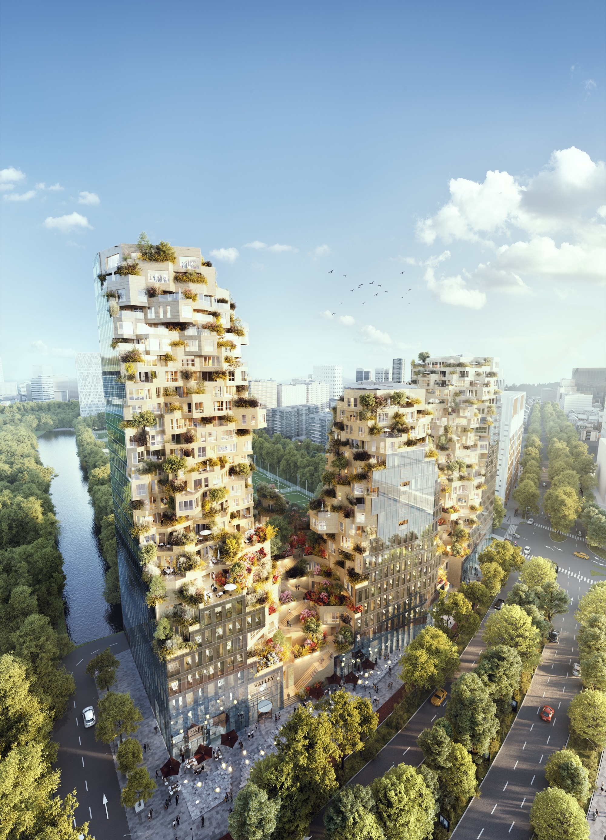 MVRDV Breaks Ground on MixedUse Valley to Inject Life