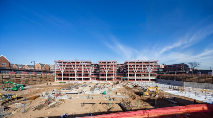 New Drone Footage Shows Construction of the Largest Residential Development in Bushwick, New York, 123 Melrose. Image © Pavel Bendov