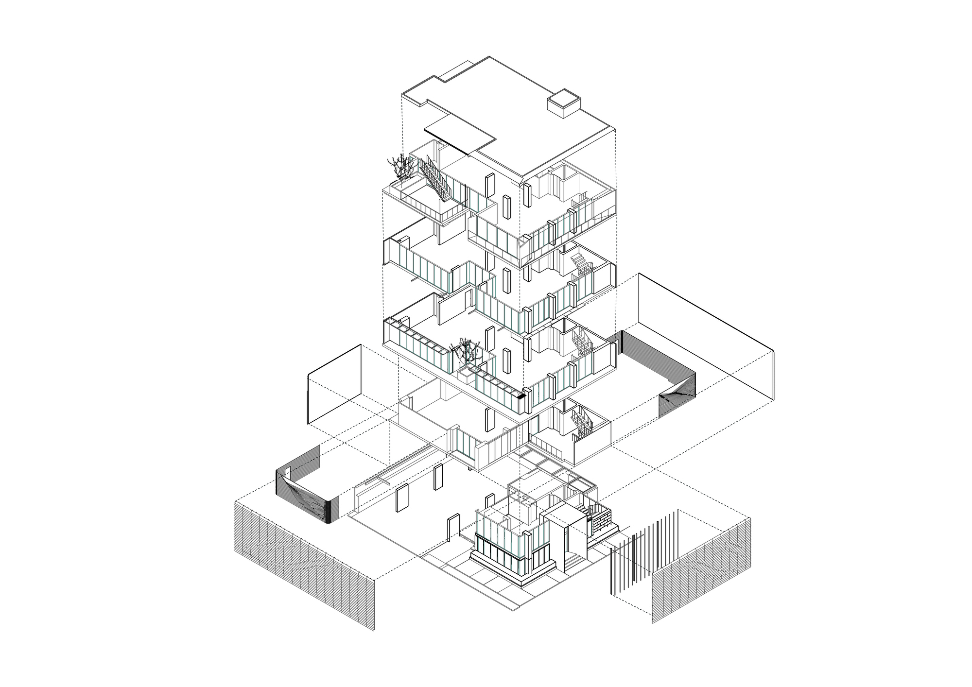exploded axon diagram hino radio wiring gallery of peak office pure architect 41