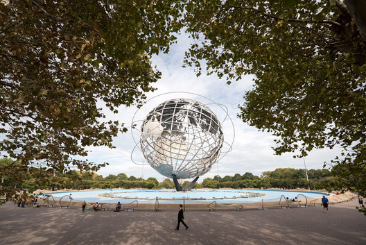 """""""Circle Fence"""" by Ai Weiwei, at Unisphere, Flushing Meadows Corona Park, Queens. Image © Timothy Schenck"""