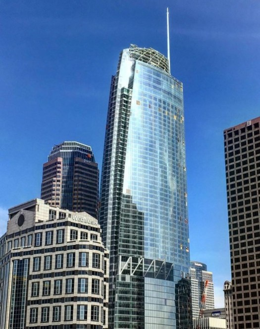 15. Wilshire Grand Center, Los Angeles ($1.2 billion). Image © <a href='https://commons.wikimedia.org/wiki/File:Wilshire_Grand.jpg'>Wikimedia user Fredchang931124</a> licensed under <a href='https://creativecommons.org/licenses/by-sa/4.0/deed.en'>CC BY-SA 4.0</a>