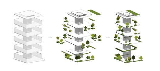 Green Terraces Axonometric