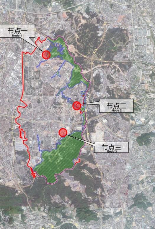 Key Design Range and Nodes Distribution Map