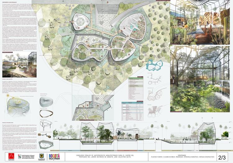 Imagen de proyecto presentada por DARP en el concurso público del Tropicario en 2014. Image Cortesía de DARP