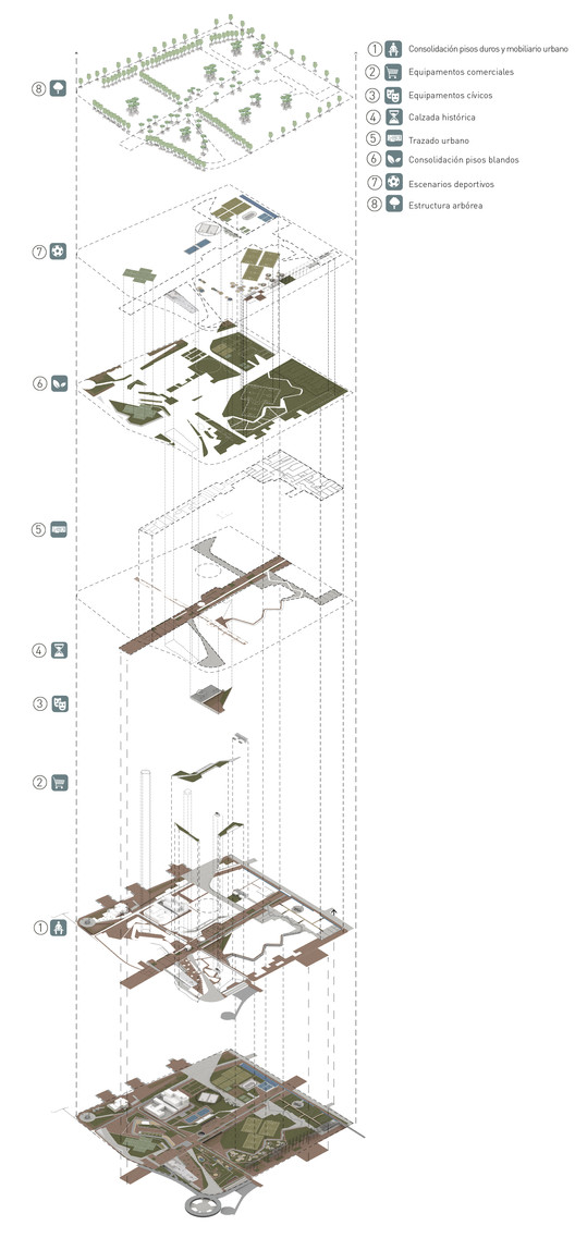 Isométrico general. Image Cortesía de DARP
