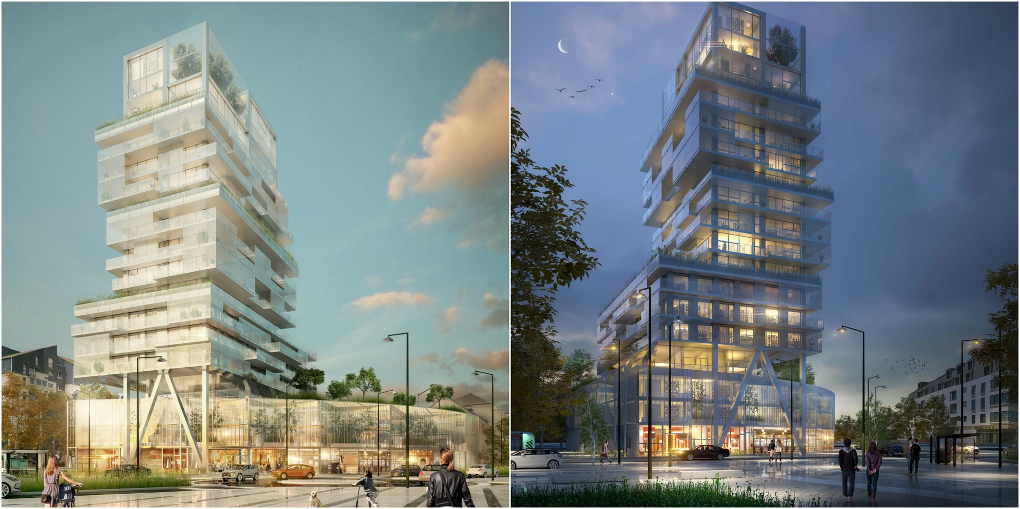 Luminous Transparent Mixed Use Tower Will Mark the