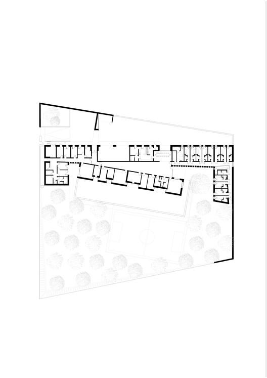 juvenile detention educational facility combas architectes free cad blocks drawings. Black Bedroom Furniture Sets. Home Design Ideas
