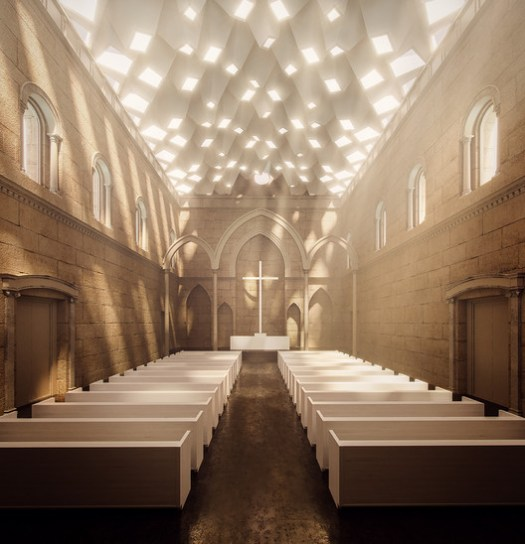 Next LA - Citation: St. Georges Church / PARALX  ©Renati Mhanna