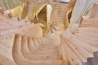ACME's Wildly Twisting Wooden Staircase Draws Inspiration ...