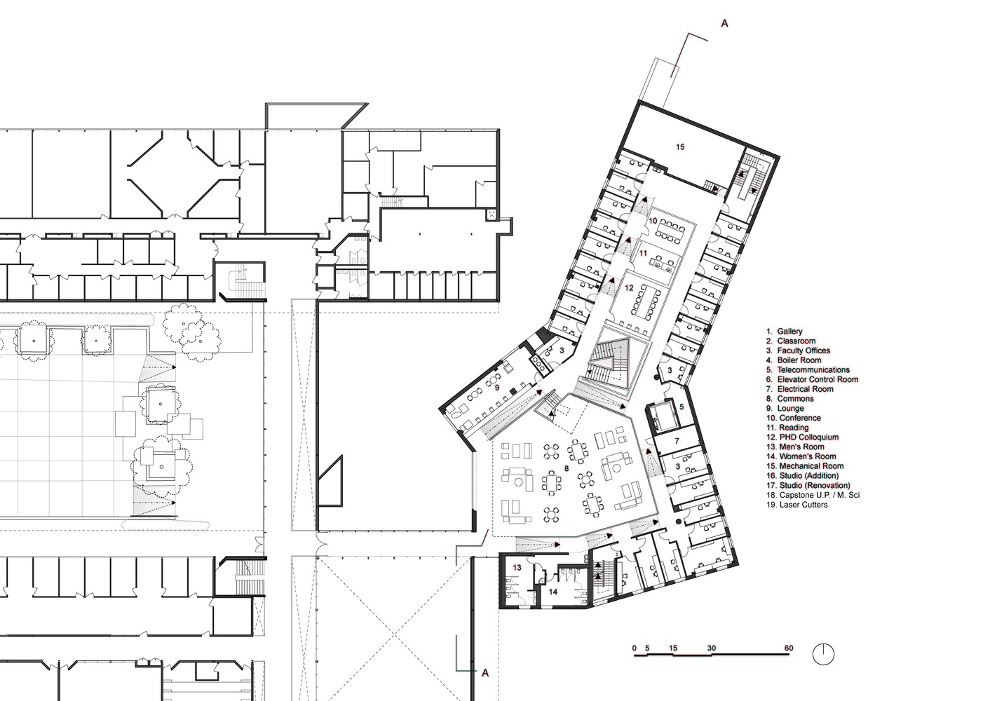 medium resolution of alfred taubman wing preston scott cohen first floor plan