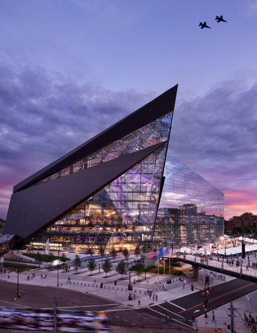 HKS, U.S. Bank Stadium. Image Courtesy of World Architecture Festival