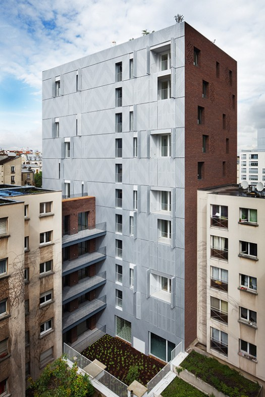 Winner: Rue Bonnet Social Housing/ Avenier Cornejo Architectes. Image Courtesy of The Architectural Review Emerging Architecture Awards