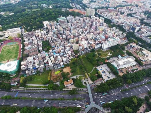 UABB2017_Nantou Old Town - Aerial View. Image Courtesy of UABB2017