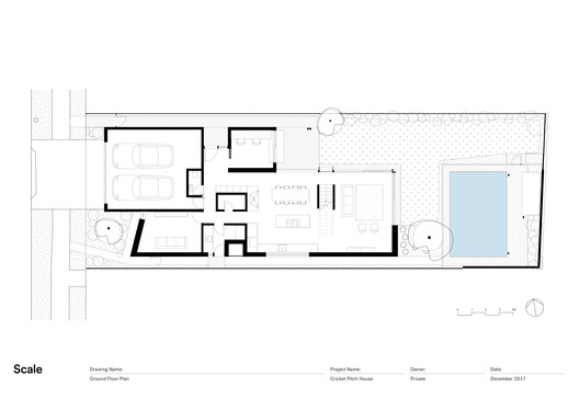 Cricket Pitch House Scale Architecture Free Autocad