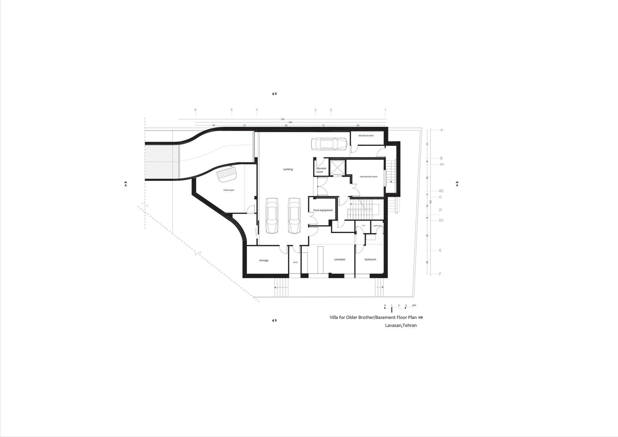 hight resolution of villa electrical plan