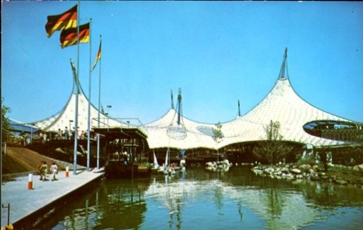 German Pavilion at Expo 67 / Rolf Gutbrod. Image <a href='https://www.flickr.com/photos/mcgill-library/34022056762/in/photolist-UDi76k-UDi79X-98ECYH-TQpWay-UDi7dz-TQpWbW-s3runy'>© McGill Library via Flickr</a> License Public Domain Mark 1.0