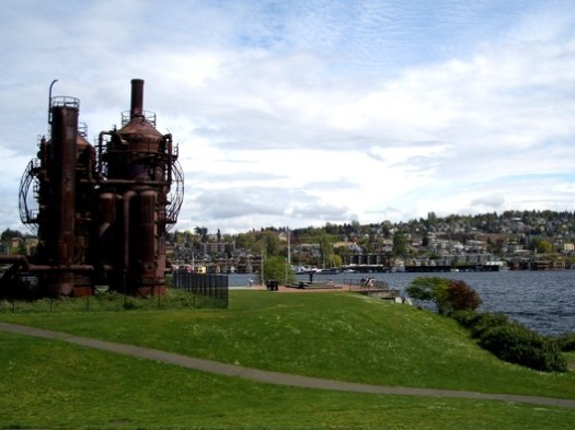 The Gas Works Park in Seattle has been widely hailed as a success since its completion in 1975, but it was identified by James S Russell as a project that would never happen under placemaking guidelines, due to the public's skepticism at the time that the industrial structures should be retained. Image © <a href='https://www.flickr.com/photos/irisphotos/4557975213'>Flickr user irisphotos</a> licensed under <a href='https://creativecommons.org/licenses/by-nd/2.0/'>CC BY-ND 2.0</a>