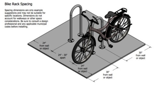 R-8212 Inverted U-Rack - Bike Rack Spacing