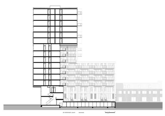 De_Verkenner_Mei_section De Verkenner Tower / Mei architects and planners Architecture