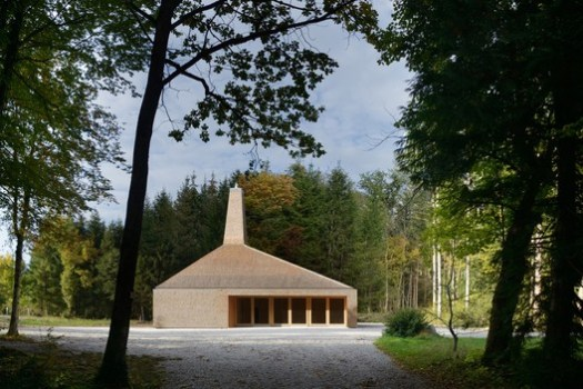 SHORTLISTED: Hunting and Forestry House, Tettnanger Wald /  ARGE Ludescher + Lutz. Image © Elmar Ludescher